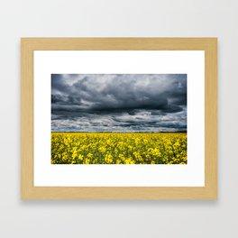 stormy fields Framed Art Print