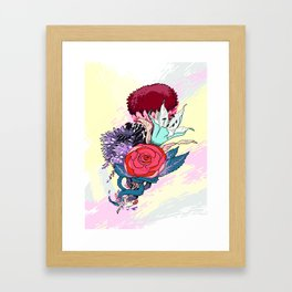 Chrysanth Wisteria & Lily - & Rose  Framed Art Print