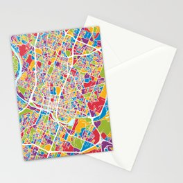 Austin Texas City Map Stationery Cards