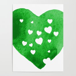 Green Hearts Poster