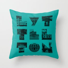Missing buildings of Lyttelton Throw Pillow