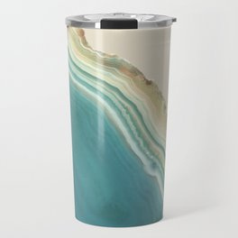 Geode Turquoise + Cream Travel Mug