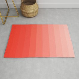 Shades of Living Coral From Hot Tomato Coral to Pale Blush Rug