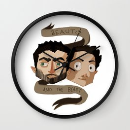 The Beauty and the Beast [Sterek] Wall Clock