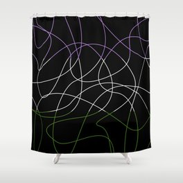 Abstract Threads – Genderqueer Pride Flag Shower Curtain