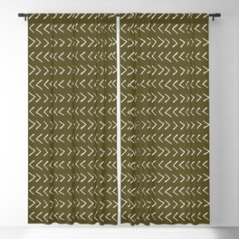 Arrows on Bronze-Olive Blackout Curtain