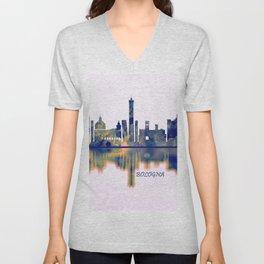 Bologna Skyline Unisex V-Neck