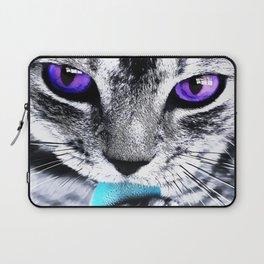 Purple eyes Cat Laptop Sleeve
