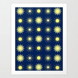Dark and Starry Night. Art Print