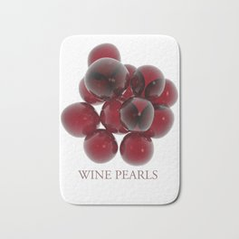 Wine pearls Bath Mat