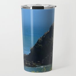 Rocks In The Sea At Pigeon Point Travel Mug