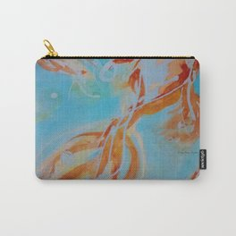 GoldFish Bubbles 1ne watercolor by CheyAnne Sexton Carry-All Pouch