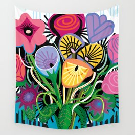 Dripping Gardens Wall Tapestry