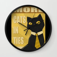 Cats in Ties - PSA Wall Clock