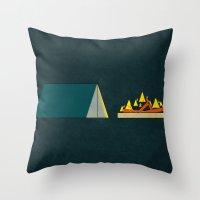 camping Throw Pillows featuring camping by Shawn Tegtmeier