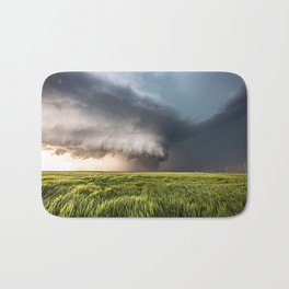 Leoti's Masterpiece - Incredible Storm in Western Kansas Bath Mat