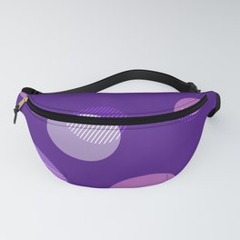ABSTRACT PURPLE BACKGROUND Fanny Pack