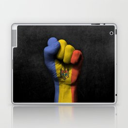Moldovan Flag on a Raised Clenched Fist Laptop & iPad Skin