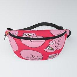 Pink Skull Fanny Pack