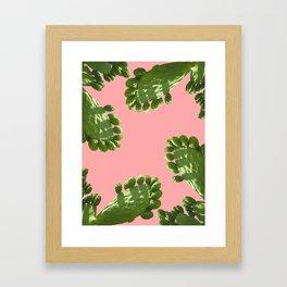 CACTUS LOVE - PEACH Framed Art Print