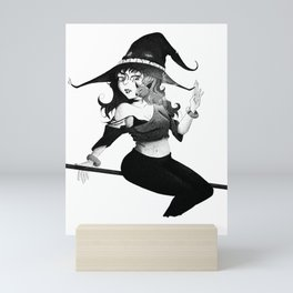 The Witch Pen and Ink Mini Art Print