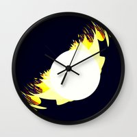 millenium falcon Wall Clocks featuring falcon by donphil