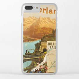 Vintage poster - Switzerland Clear iPhone Case