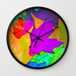 Vivid Leaves #1 Wall Clock