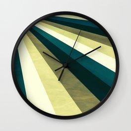 Green Ombre Stripes Wall Clock