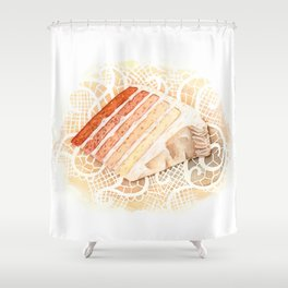 Ombre Cake Slice Shower Curtain