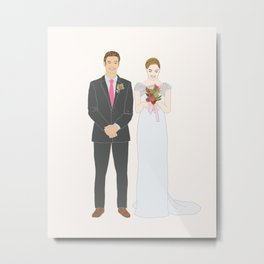 This $75 Custom Portrait Is the Most Thoughtful Wedding Gift Ever Metal Print