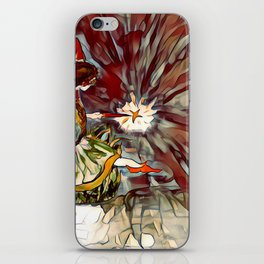 Red and Orange Fairy Girl watercolor by CheyAnne Sexton iPhone Skin