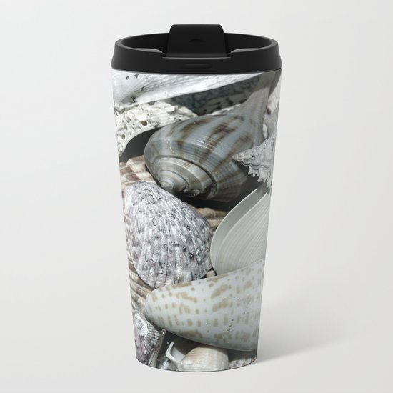 Sea Shells Metal Travel Mug