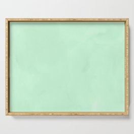Sea Green Watercolor Serving Tray