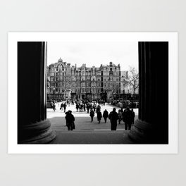 British Museum - Going out Art Print