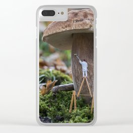 little world painter , painting mushroom Clear iPhone Case
