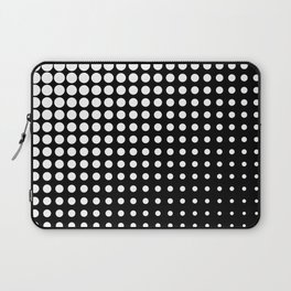 Modern techno shrinking polka dots black and white Laptop Sleeve