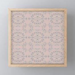 silver filigrane- floral design-tapestry and home decor-romantic -pink Framed Mini Art Print
