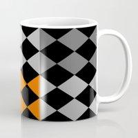orange pattern Mugs featuring Pattern orange by LoRo  Art & Pictures