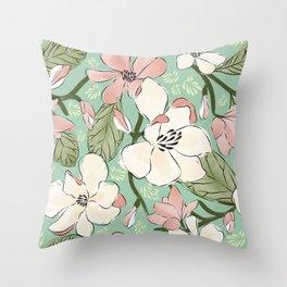 Magnolia Joys Throw Pillow