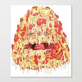 Pizza Slob Canvas Print