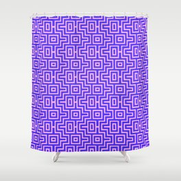 Plum Puzzle - Choctaw Pattern Shower Curtain