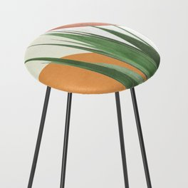 Abstract Agave Plant Counter Stool