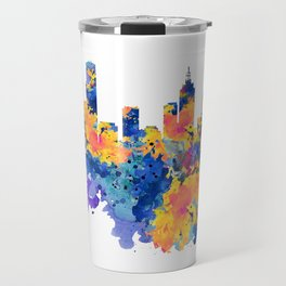 Melbourne Watercolor Skyline Travel Mug