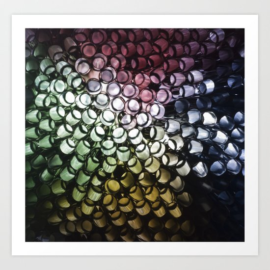 Abstract Straws Art Print