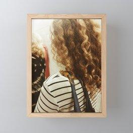 Golden locks. Framed Mini Art Print