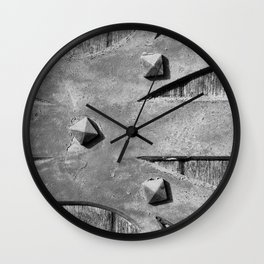 Hinges On The Cathedral Door Wall Clock