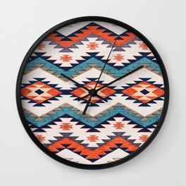 N70 - Bohemian Traditional Vintage Farmhouse Moroccan Style Artwork  Wall Clock