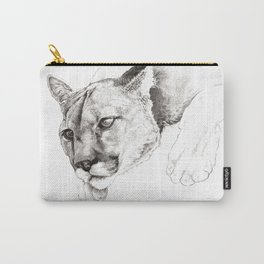 Sketch Of A Captived Mountain Lion Carry-All Pouch