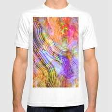 abstract crystal x Mens Fitted Tee White MEDIUM